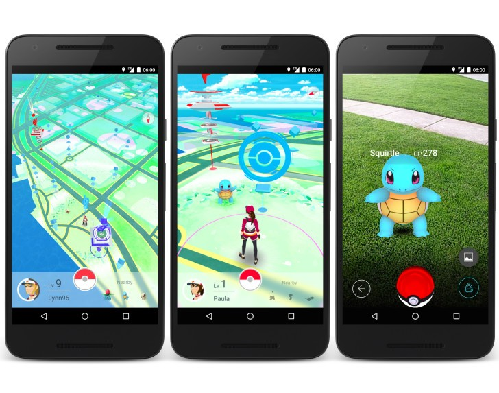 Pokemon Go the app that's running around.
